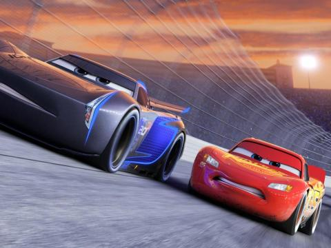 """A scene from """"Cars 3."""""""