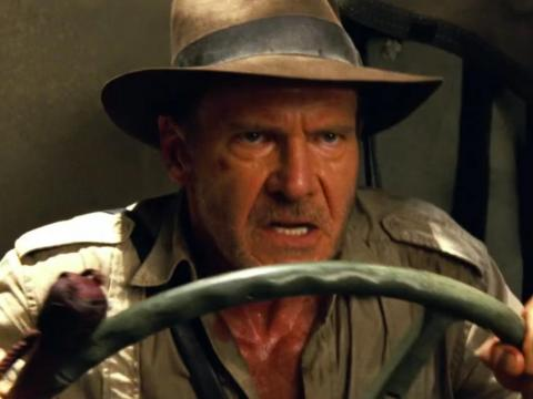 "Harrison Ford in ""Indiana Jones and the Kingdom of the Crystal Skull."""