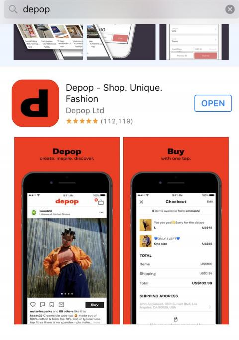 Para registrarse en Depop, basta con tener acceso a un smartphone y a un número de teléfono.