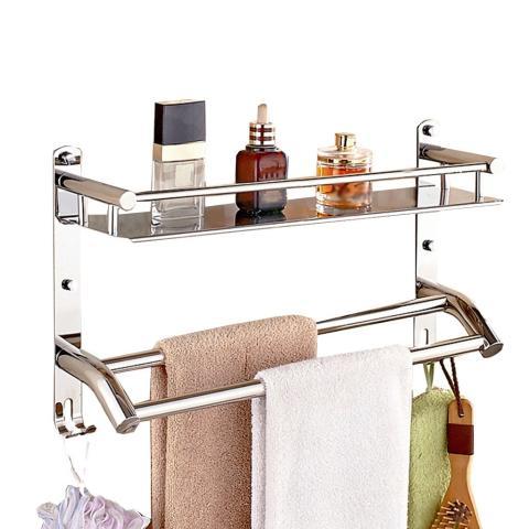 Estante de baño con colgadero para toallas