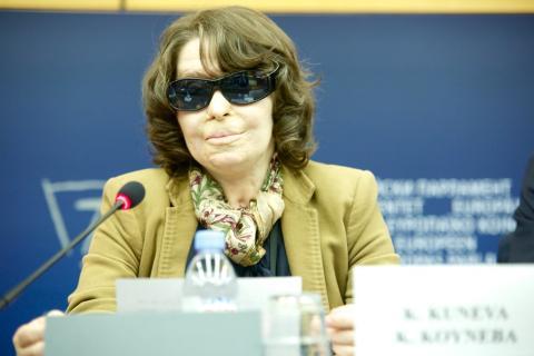 La eurodiputada griega de Syriza Kostadinka Kuneva