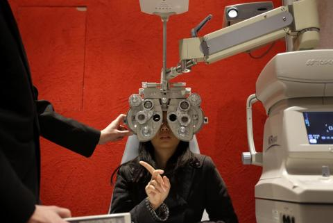 Un examen ocular