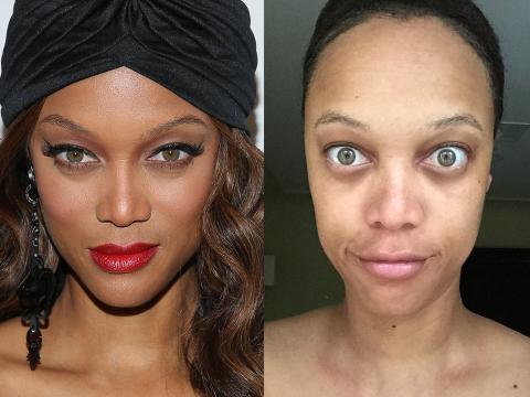 Los famosos ojos verdes de Banks resaltan aún más sin maquillaje.
