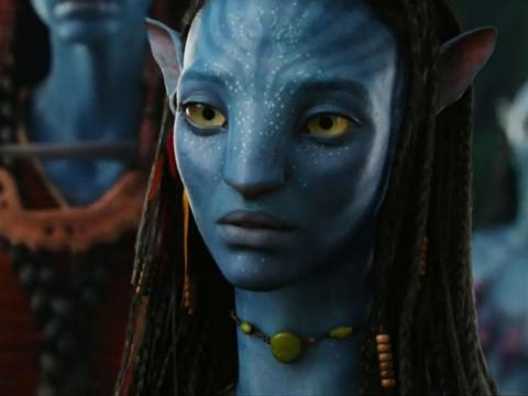 "Neytiri the Na'vi in 2009's ""Avatar."""