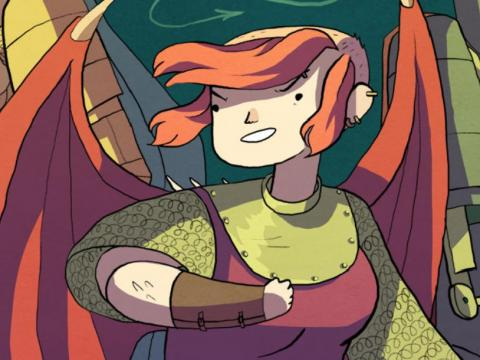 "An illustration of ""Nimona."""