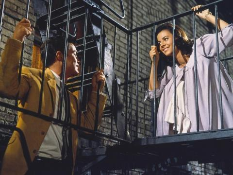 "A scene from the classic ""West Side Story."""