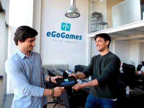 Los emprendedores Alejandro Sáez y Baldomero Sánchez, fundadores de eGoGames.