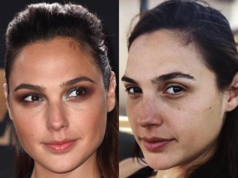Gadot sabe que el maquillaje es sólo una mejora de su belleza natural.