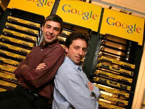Larry Page, a la izquierda, y Sergey Brin.