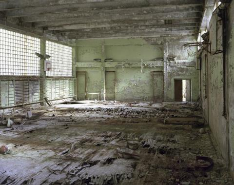 Gimnasio verde, Pripyat, 2009.