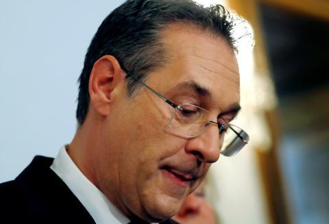 El vicecanciller de Austria, Heinz- Christian Strache