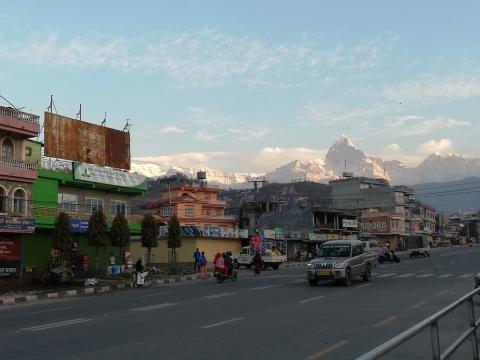 himalayas desde Pokhara