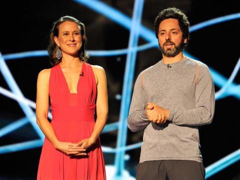 Anne Wojcicki y Sergey Brin en 2014.
