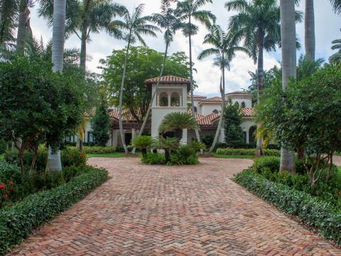 Homes in the ultra-exclusive island community rarely go on the market. Right now, there's only one house for sale: an eight-bedroom, Mediterranean-style mansion for $24 million.