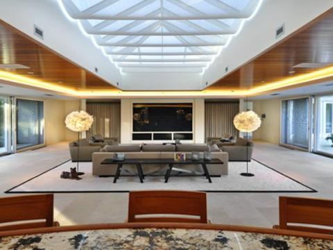 El interior de la mansión de Chicago de Michael Jordan.