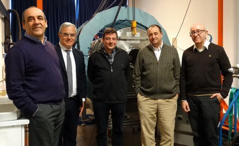 Investigadores españoles del motor de plasma