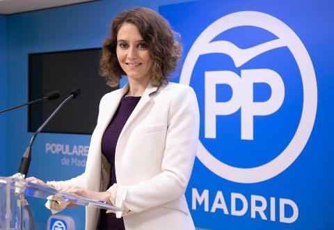 Isabel Díaz Ayuso, candidata del PP a la Comunidad de Madrid