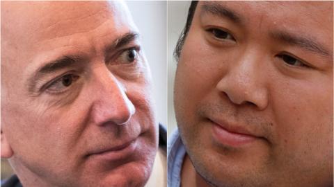 Jeff Bezos y Will Shu