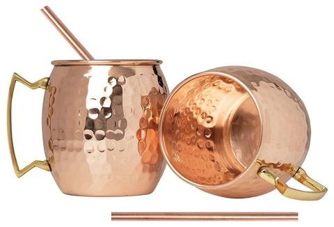 Juego de tazas de cobre