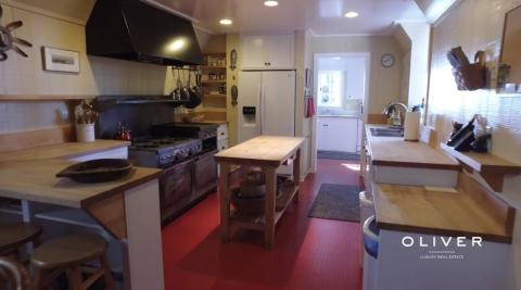 The large kitchen is ideal for cooking up casual, family meals.