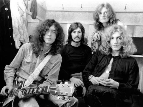 Led Zeppelin, desde la izquierda, Jimmy Page, John Bonham, John Paul Jones, y Robert Plant, en 1969.