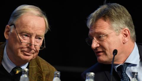 Meuthen y Gauland, líderes de Alternativa por Alemania