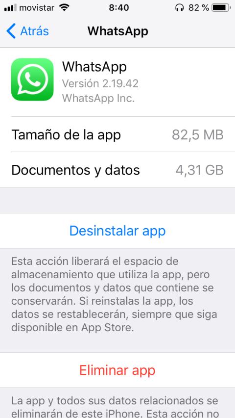 Limpiar la caché del iPhone