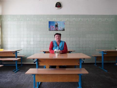 "The lunch cancellations didn't affect kindergartens, but the cook for a local kindergarten, Lyubov Shevchuk, said the older children faint from lack of food. ""I try to at least give them some hot tea, or take from one child to"