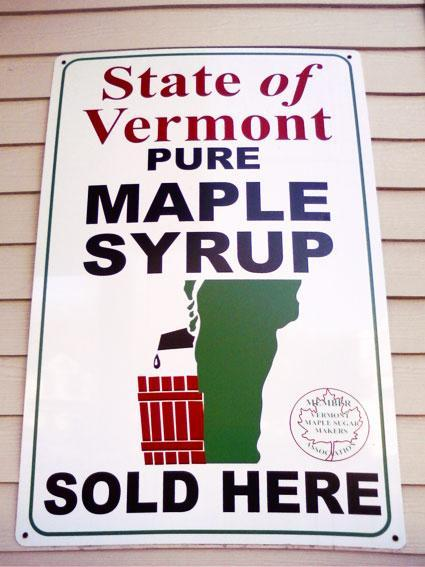 Maple syrup straight from the tap