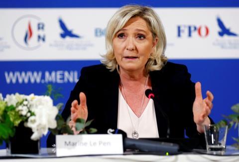 Marine Le Pen, líder del partido de extrema derecha en Francia