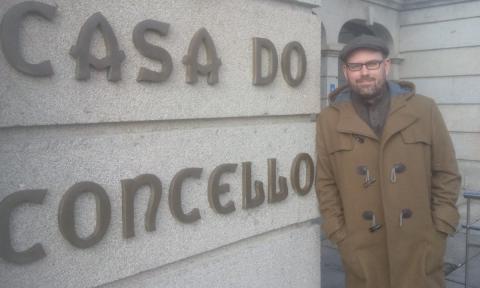 Martiño Noriega, candidato de Compostela Aberta a la alcaldía de Santiago
