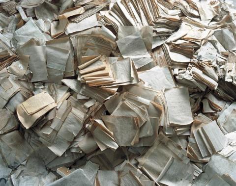 Documentos de pacientes, Hospital, Pripyat, 2002.