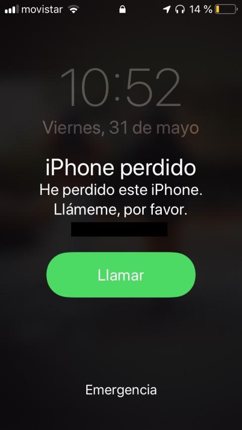 Mensaje en iPhone perdido