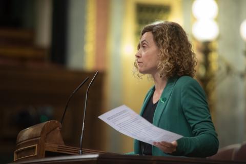 Meritxell Batet, diputada del PSOE, interviene en el Congreso