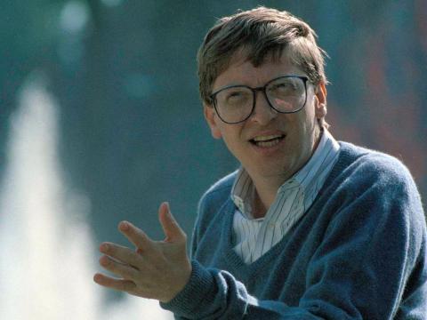 El cofundador de Microsoft Bill Gates - 16 años