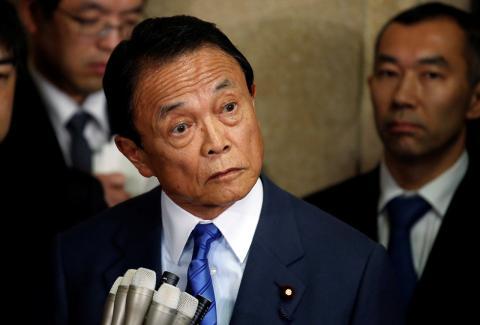 El Ministro de Finanzas de Japón, Taro Aso