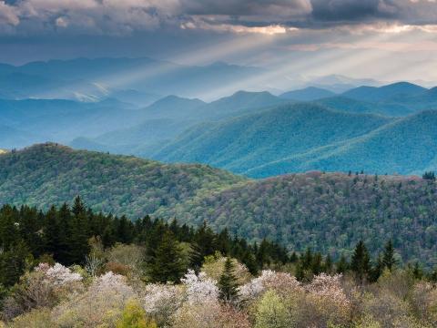 Las montañas de los Apalaches se están encogiendo.