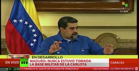Nicolás Maduro en la televisión estatal.