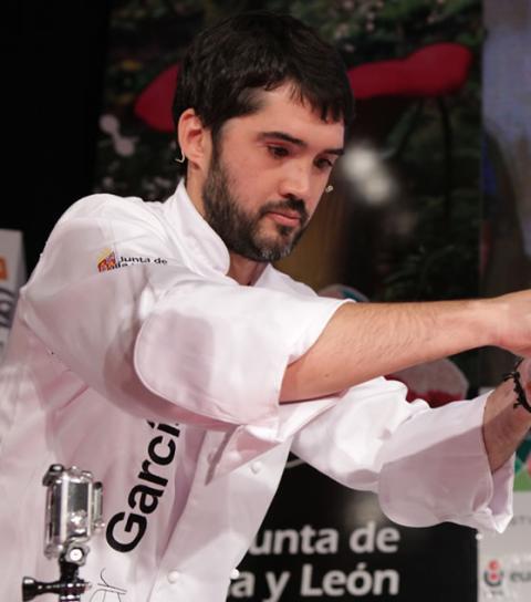 Óscar García, reconocido como mejor cocinero de Castilla y León en 2013 y dueño del restaurante Baluarte