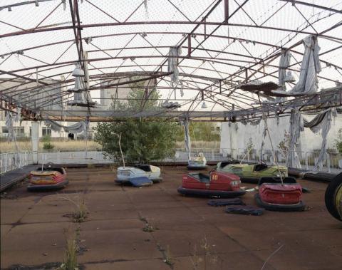 Coches de coche Pripyat, 1994.