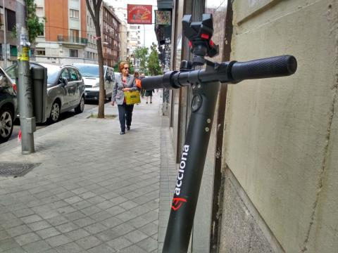 Patinete de Acciona en Madrid.