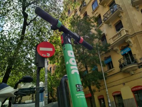 Patinete eléctrico de Bolt en Madrid.
