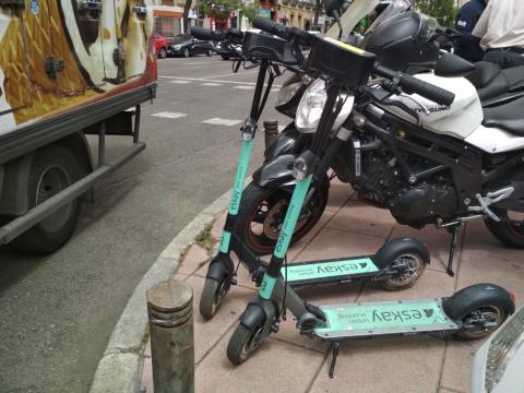 Patinete eléctrico compartido de Eskay en Madrid