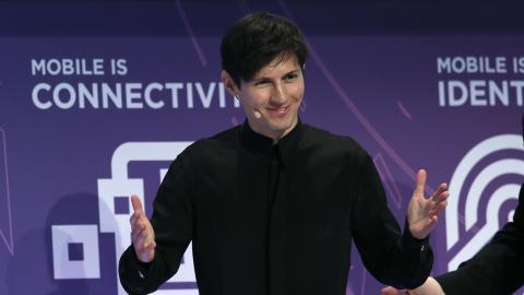 Pavel Durov, creador de Telegram, en una conferencia del Mobile World Congress.