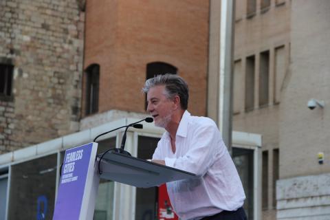 Pedro Santiesteve, candidato de Zaragoza en Común a la alcaldía de la ciudad