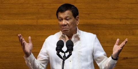 Philippine President Rodrigo Duterte in Manila on July 24, 2017.