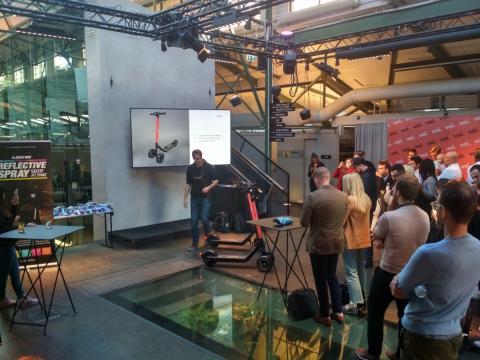 Presentación de los nuevos vehículos de Voi en Estocolmo, Suecia.