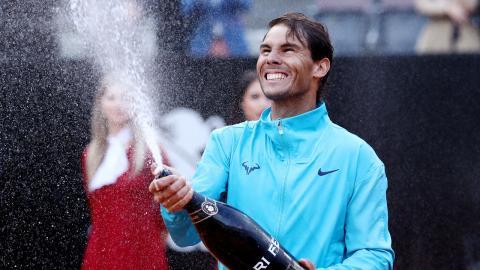 Rafa Nadal, campeón del Masters 1.000 de Roma de 2019 tras derrotar en la final a Djokovic por 6-0, 4-6 y 6-1.