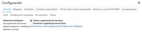 Redacción inteligente de Google