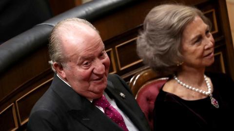 El rey Juan Carlos, durante un acto en el Congreso de los Diputados.